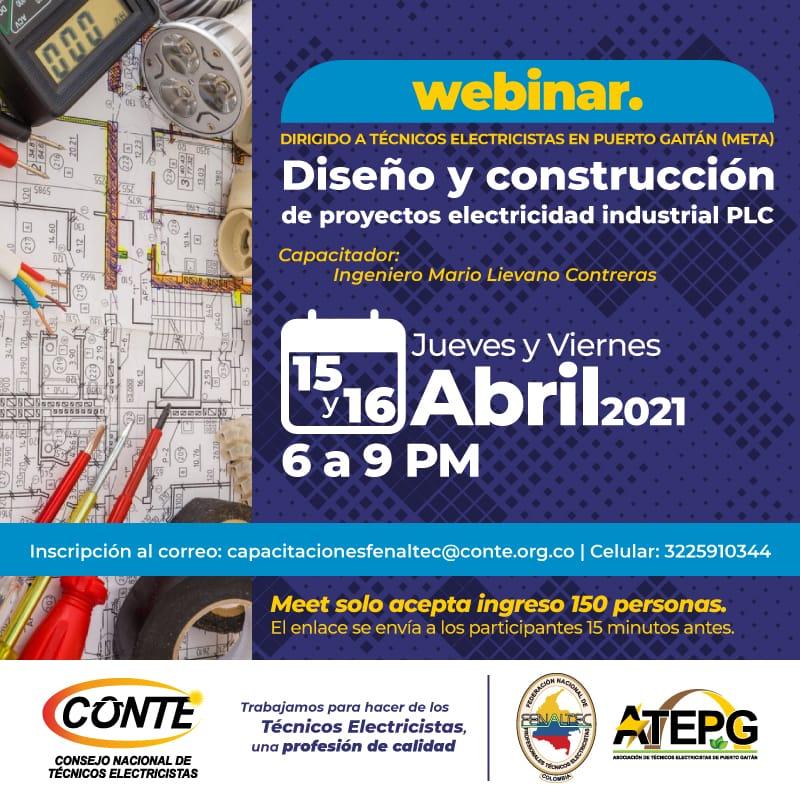 Webinar: Diseño y Construcción Proyecto Electricidad industrial PLC