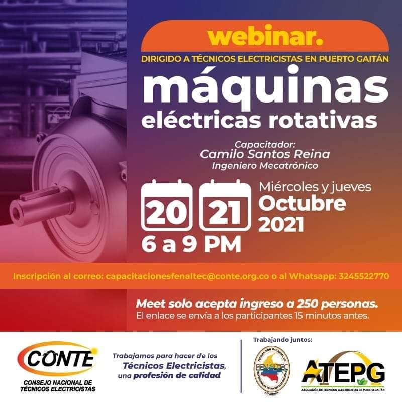 Webinar Máquinas eléctricas rotativas